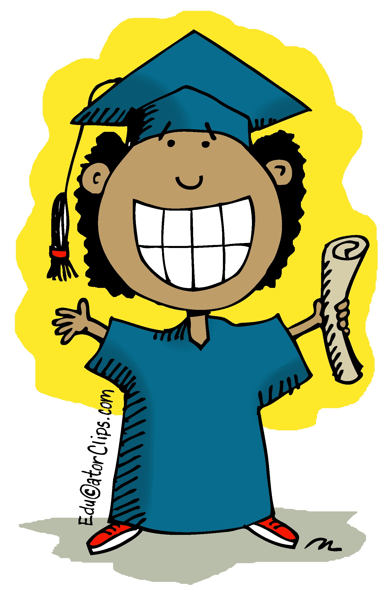Happy Graduating Student Clip Art
